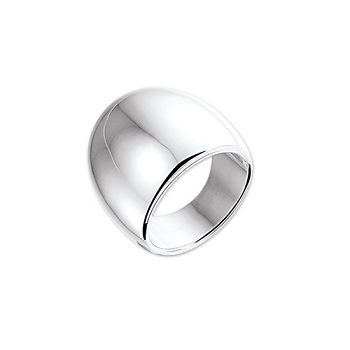 Zilveren Ring Breed Glad